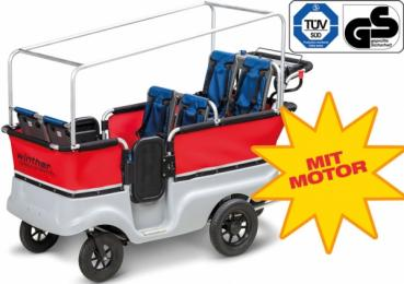 Winther E-Turtle Kinderbus Basic mit Motor für 6 Kinder
